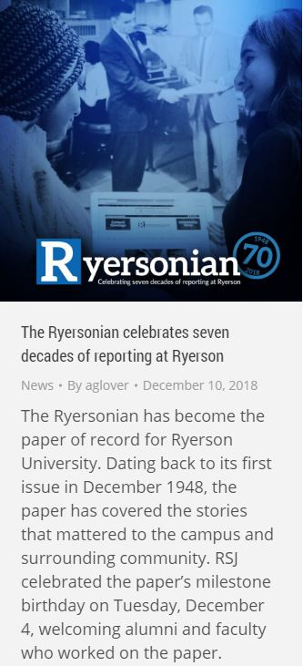 ryersonian 70